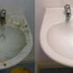 Преди и след почистване на мивки